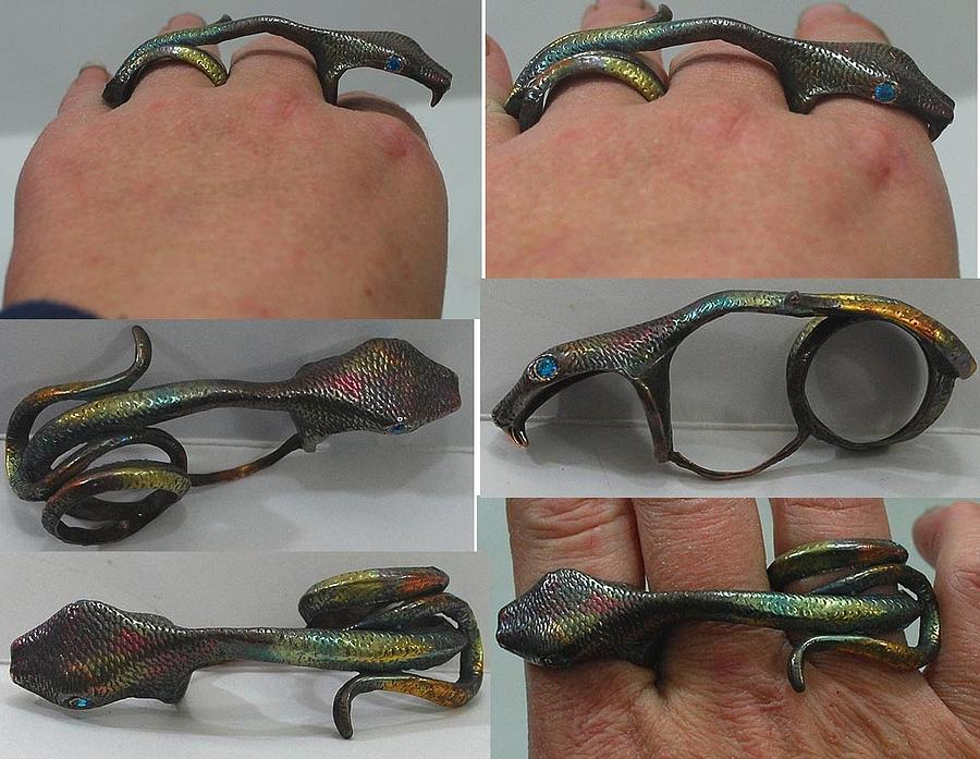 Snake Ring Jewelry - Snake Bite by Michelle  Robison
