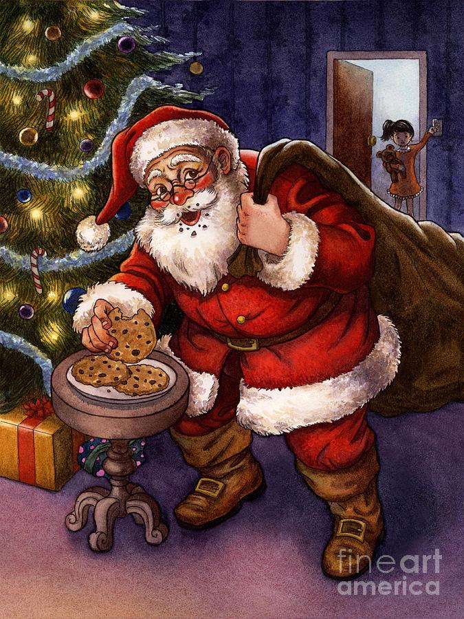 Sneaky Santa Painting