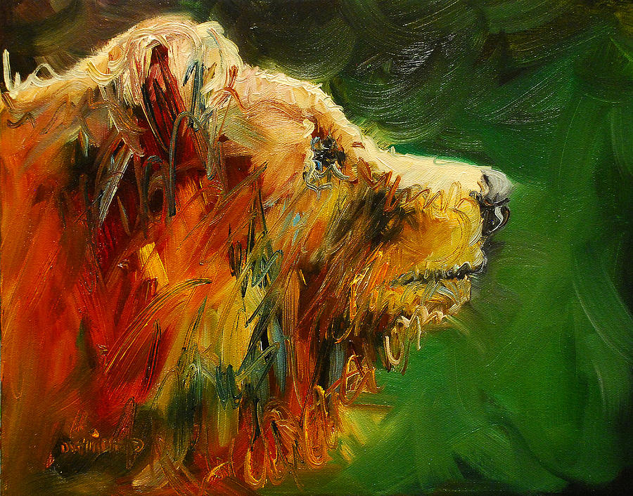 Sniffing For Food Bear Painting