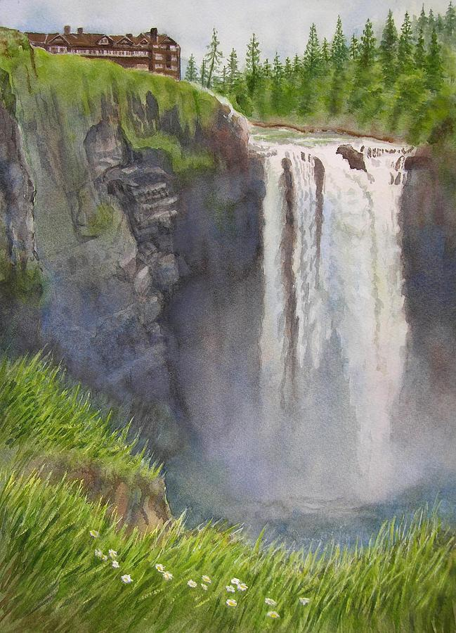 Snoqualmie Falls Washington Painting  - Snoqualmie Falls Washington Fine Art Print