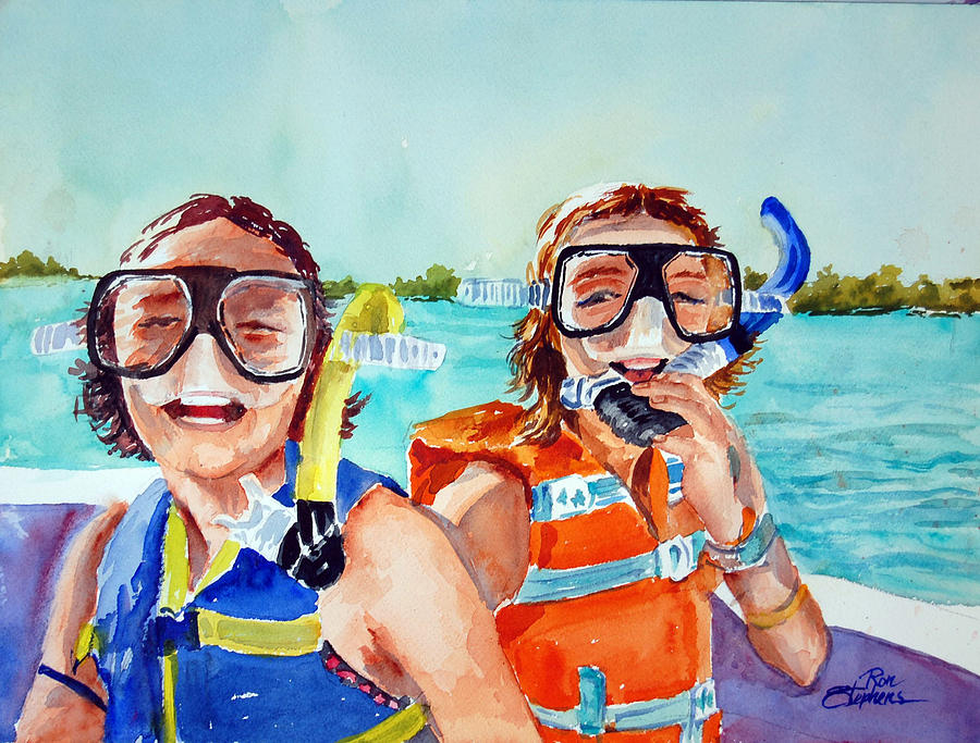 Snorkel Girls Painting