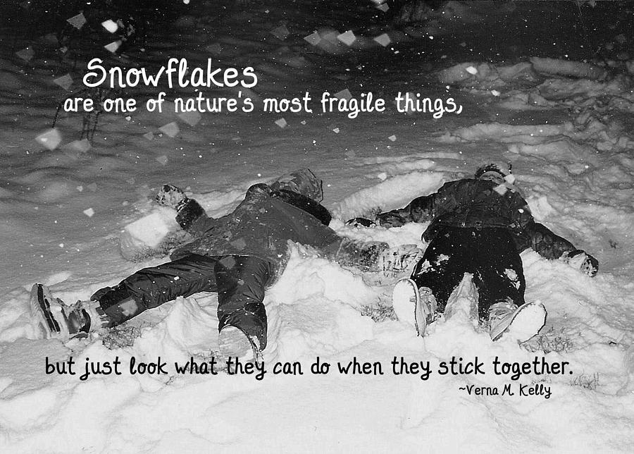 Snow Angels Quote Photograph  - Snow Angels Quote Fine Art Print