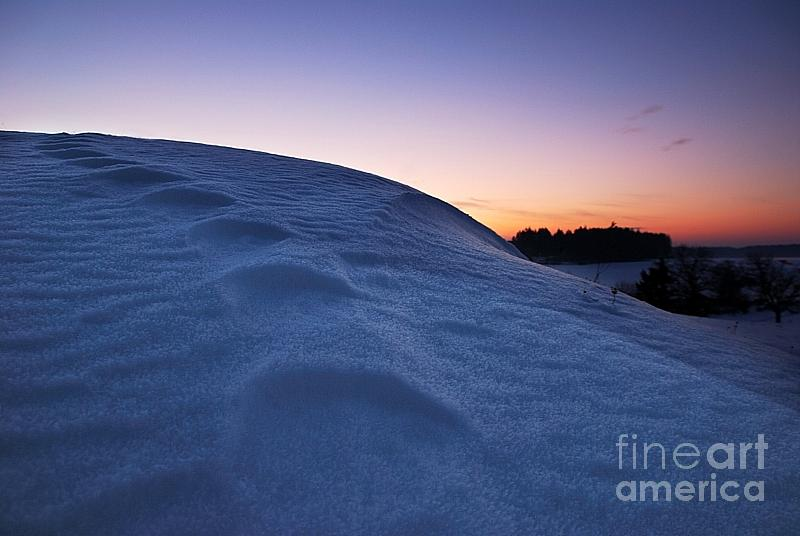 Snow Bank Photograph  - Snow Bank Fine Art Print
