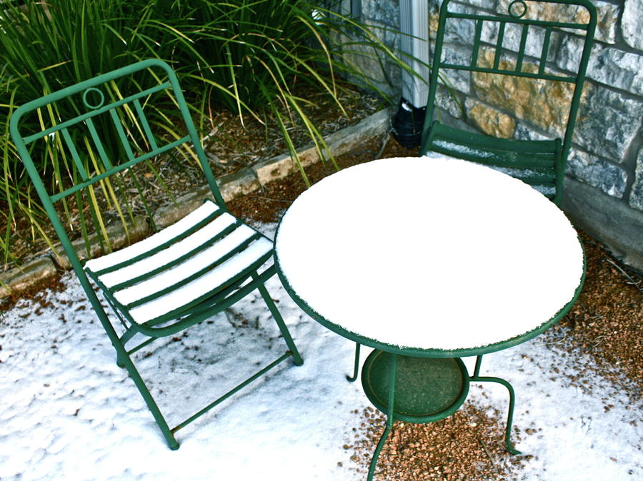 Snow Cafe Photograph
