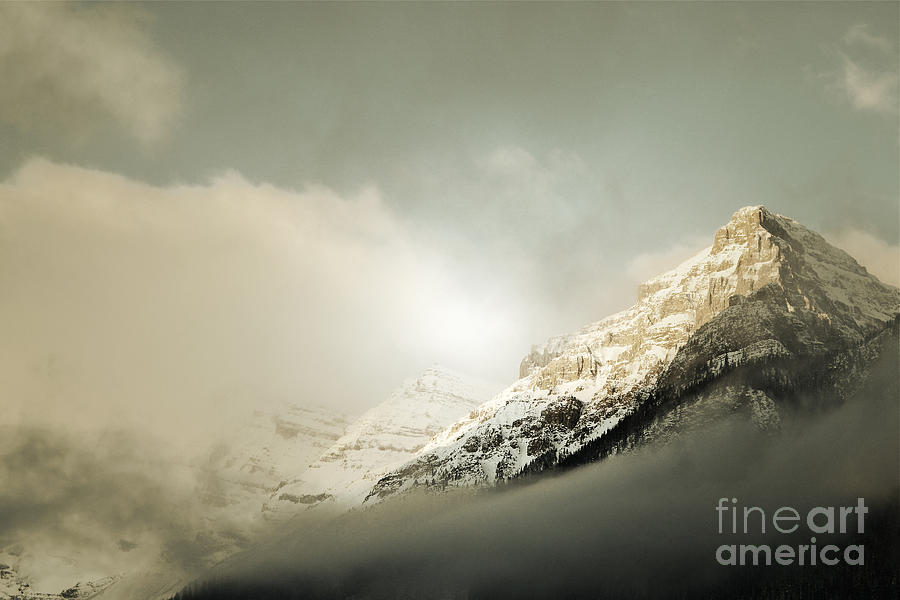 Snow Capped Banff Photograph  - Snow Capped Banff Fine Art Print