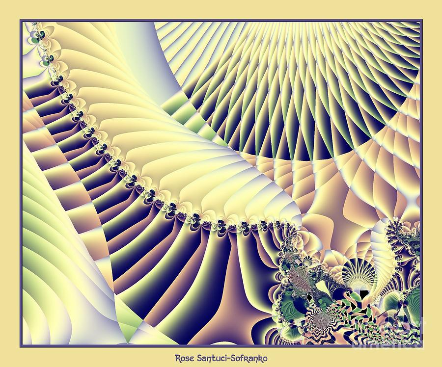Mountains Digital Art - Snow Capped Mountains And Verdant Valleys Fractal 156 by Rose Santuci-Sofranko