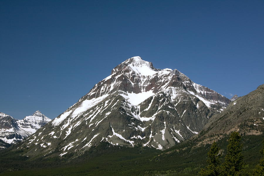Snow Covered Mountain Photograph