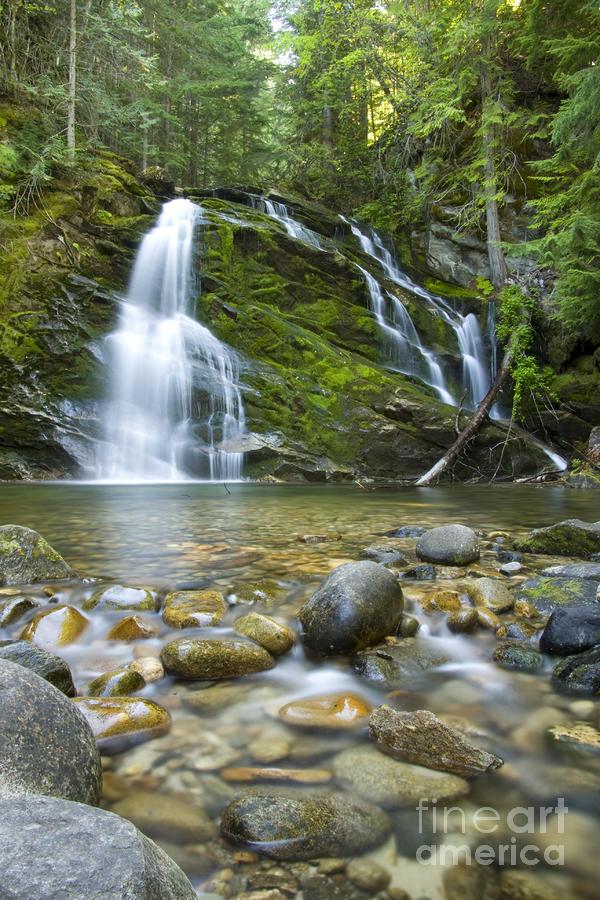Snow Creek Falls Photograph
