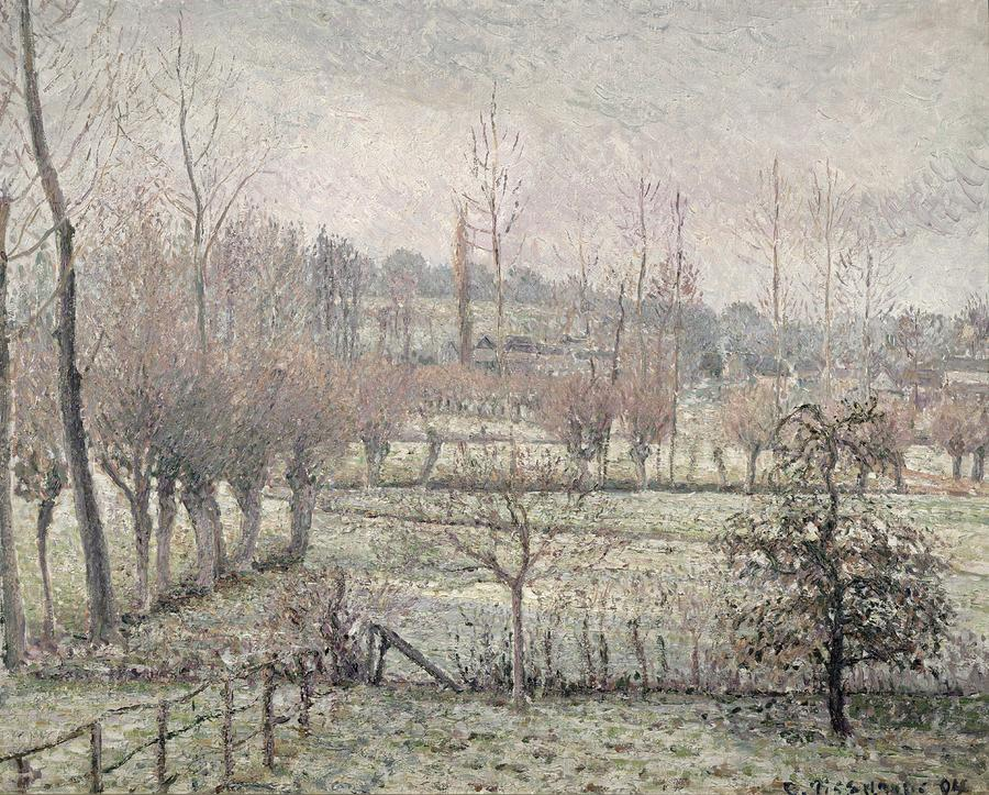 Snow Effect At Eragny Painting