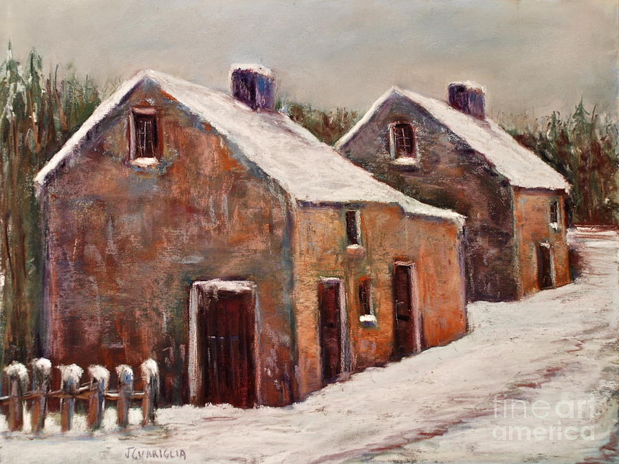 Snow Fall In Ireland Pastel  - Snow Fall In Ireland Fine Art Print