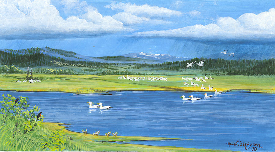 Snow Geese  Tidal Flats Painting
