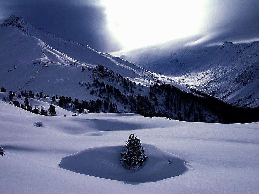 Snow Mountain Austria  Photograph