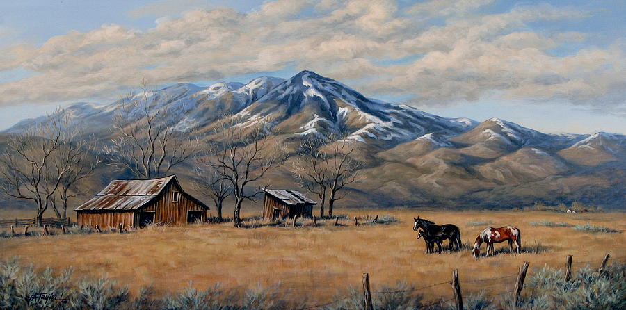 Snow On The Mountain Painting