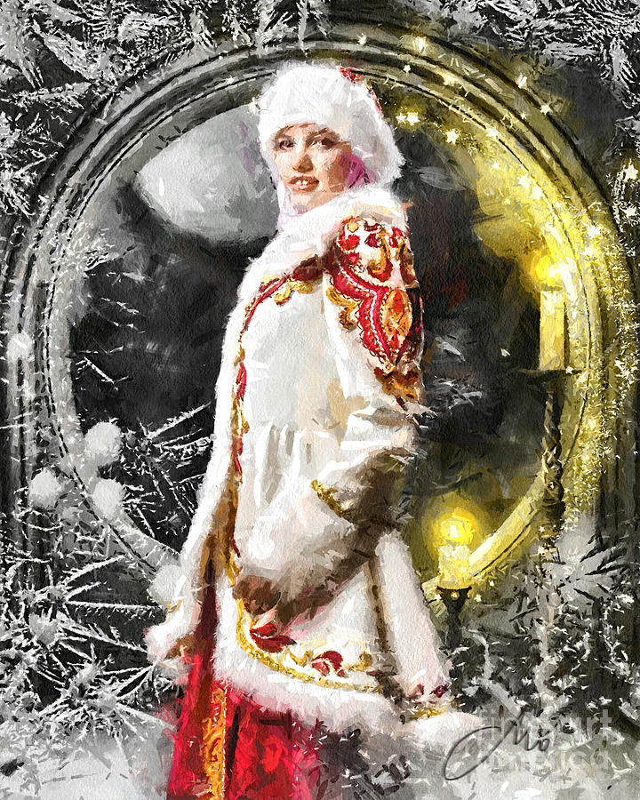 Snow Queen Painting - Snow Queen by Mo T