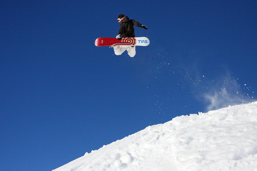 Snowboarder In Serre Chevalier France Photograph  - Snowboarder In Serre Chevalier France Fine Art Print