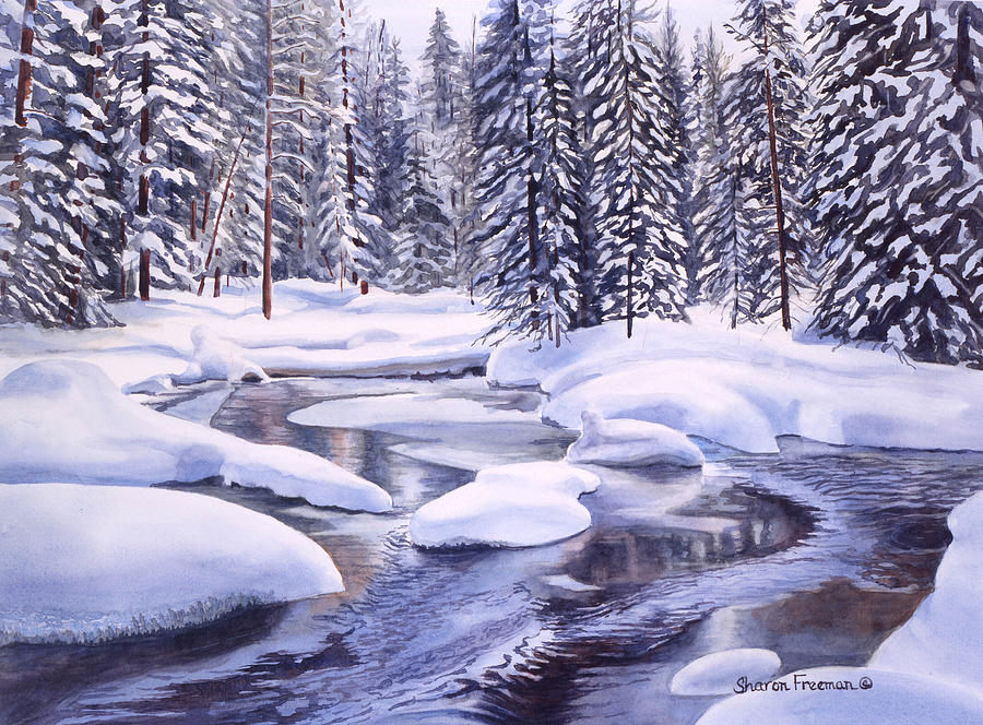 Snowbound Painting  - Snowbound Fine Art Print