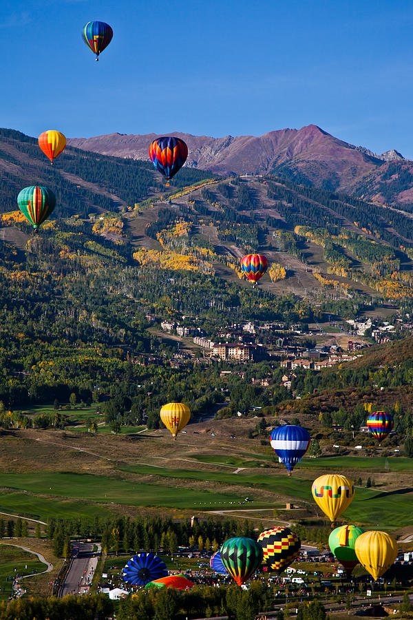 Snowmass Balloon Fest Photograph  - Snowmass Balloon Fest Fine Art Print