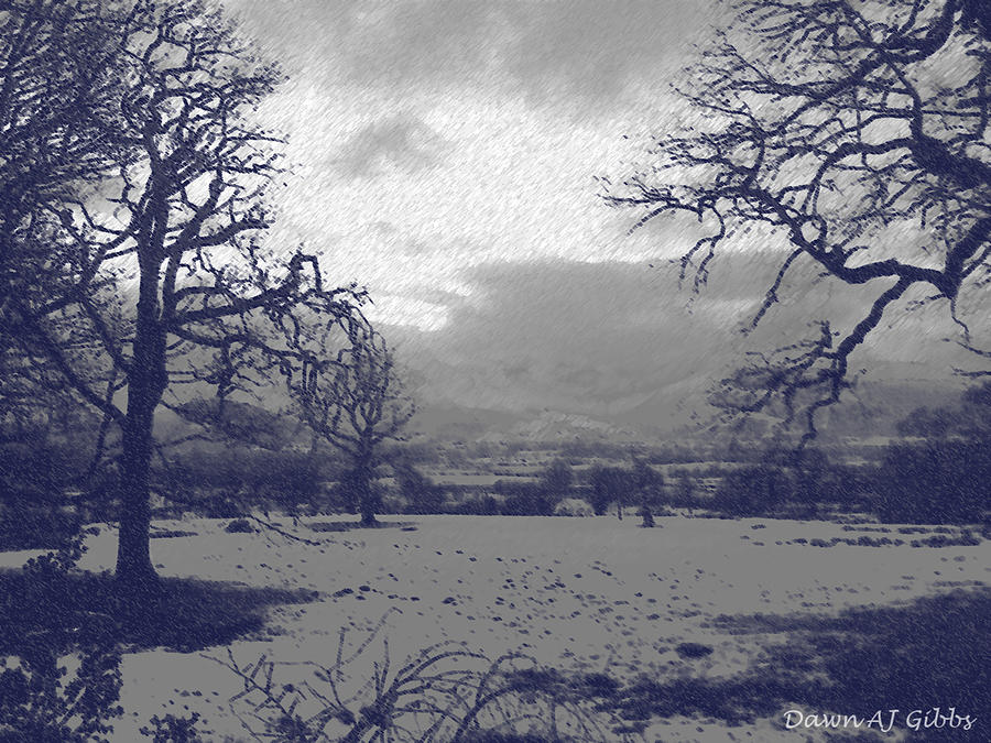 Snowy Lake District Photograph  - Snowy Lake District Fine Art Print