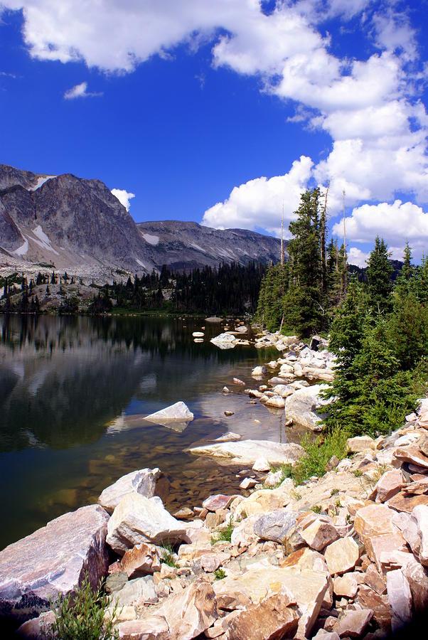 Snowy Mountain Lake Photograph
