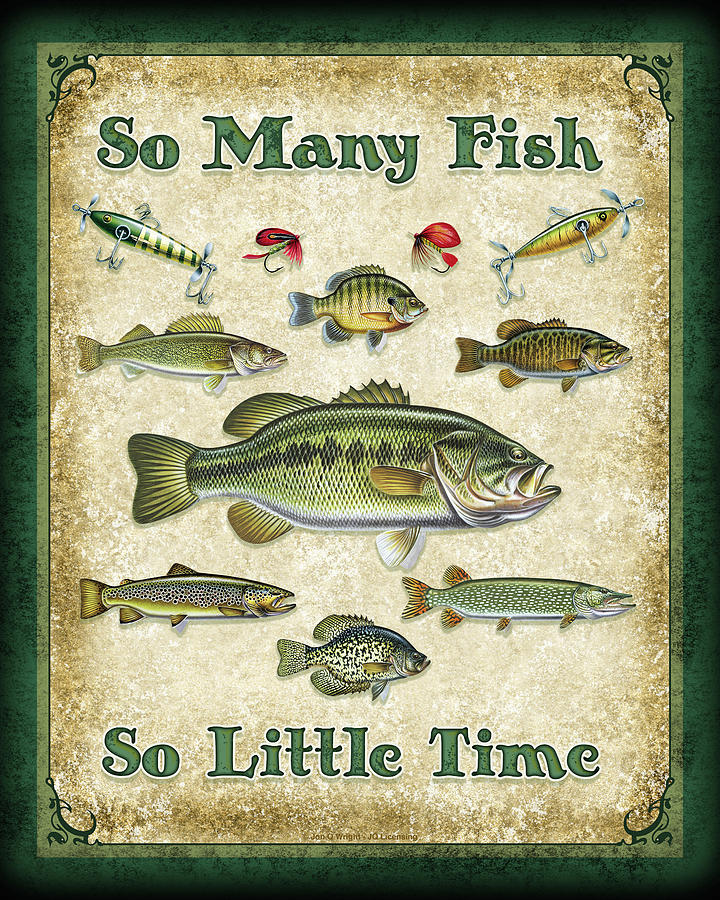 So Many Fish Sign Painting  - So Many Fish Sign Fine Art Print