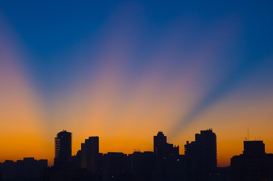 São Paulo City Dawning Photograph
