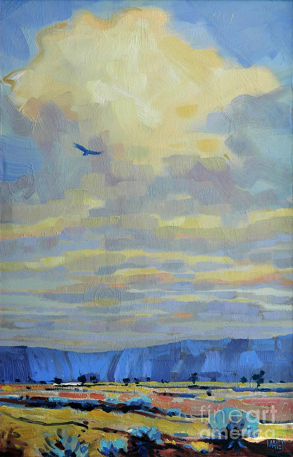 Eagle Painting - Soaring by Donald Maier