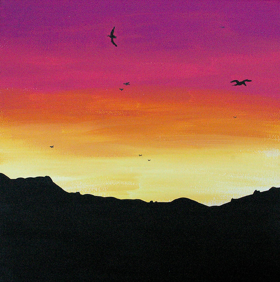 Soaring Sunset Painting