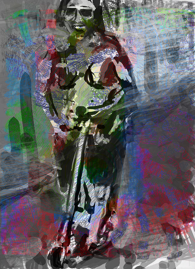 Sober Scooter Digital Art  - Sober Scooter Fine Art Print