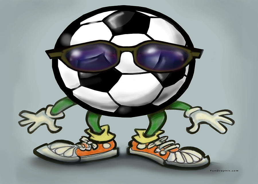 Soccer Cool Digital Art  - Soccer Cool Fine Art Print