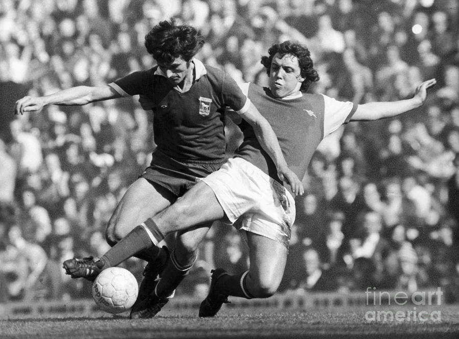 1976 Photograph - Soccer Tackle, 1976 by Granger
