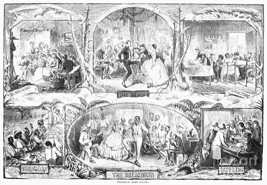 Social Activities, 1861 Photograph  - Social Activities, 1861 Fine Art Print