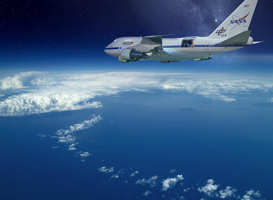 Sofia Airborne Observatory In Flight Photograph  - Sofia Airborne Observatory In Flight Fine Art Print