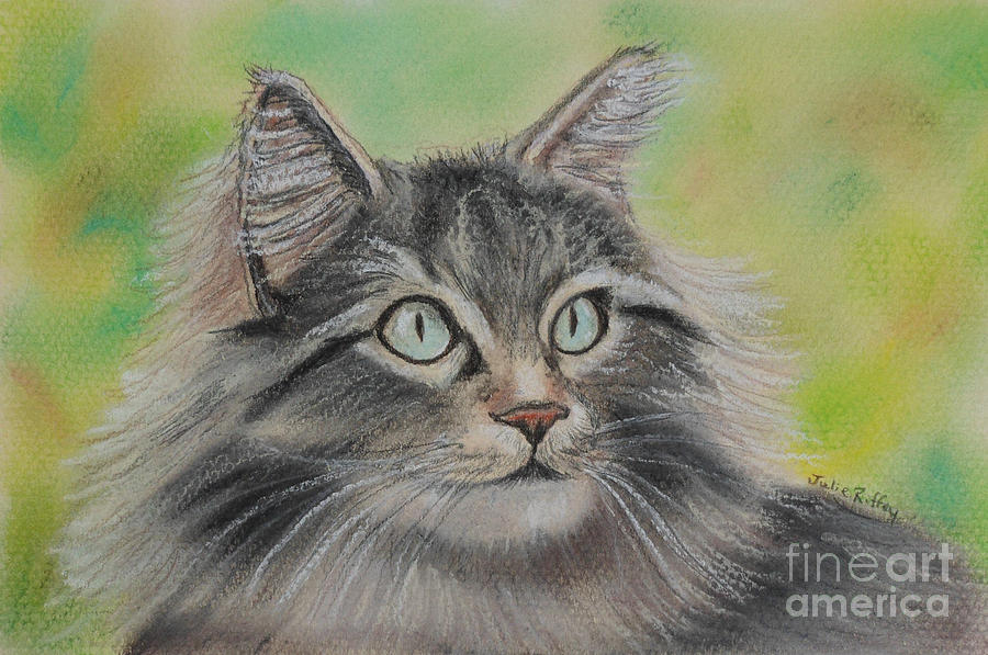 Soft Kitty Pastel  - Soft Kitty Fine Art Print