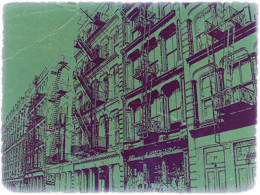 New York Photograph - Soho New York by Naxart Studio