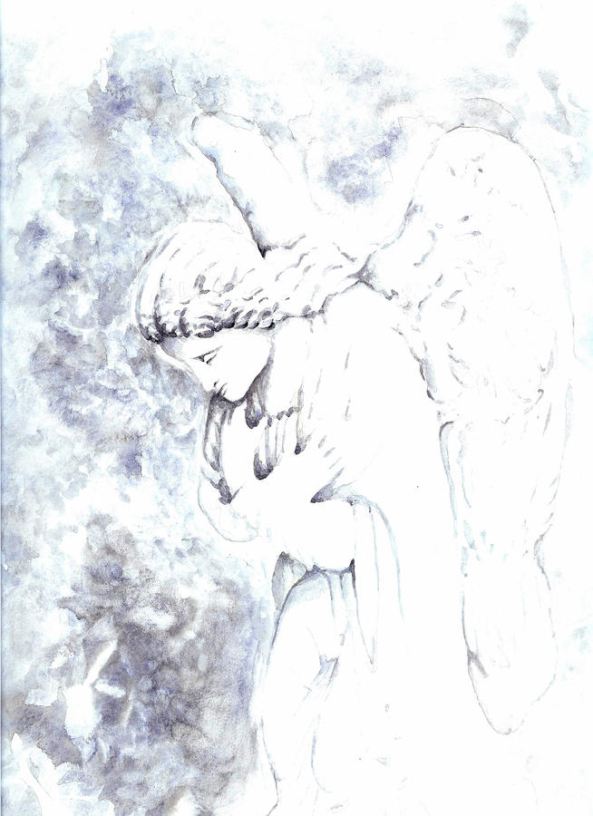 Solace Angel Painting  - Solace Angel Fine Art Print