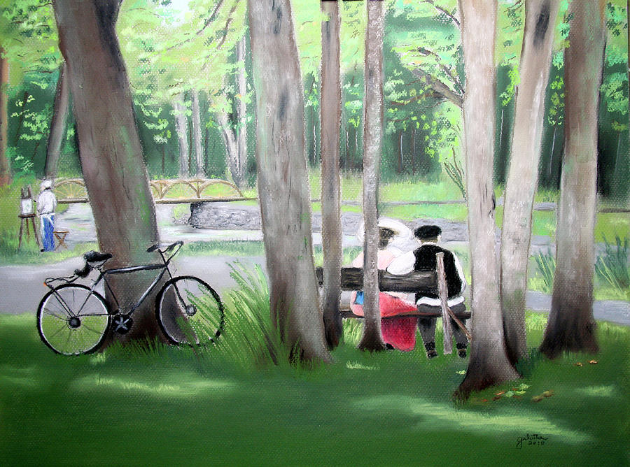 Solace In The Park Painting