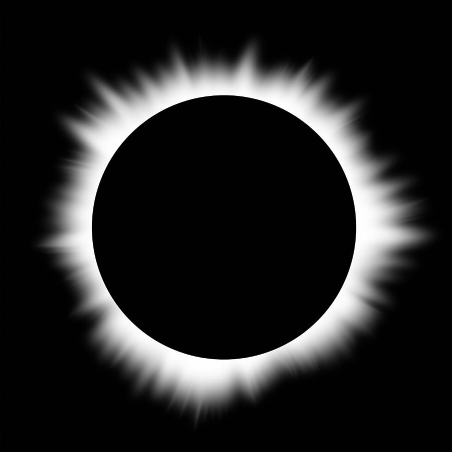 Solar Eclipse With Corona Photograph