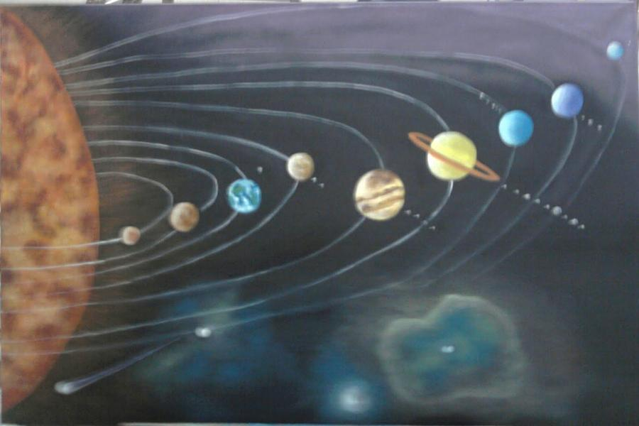 solar system wall painting pinterest - photo #16