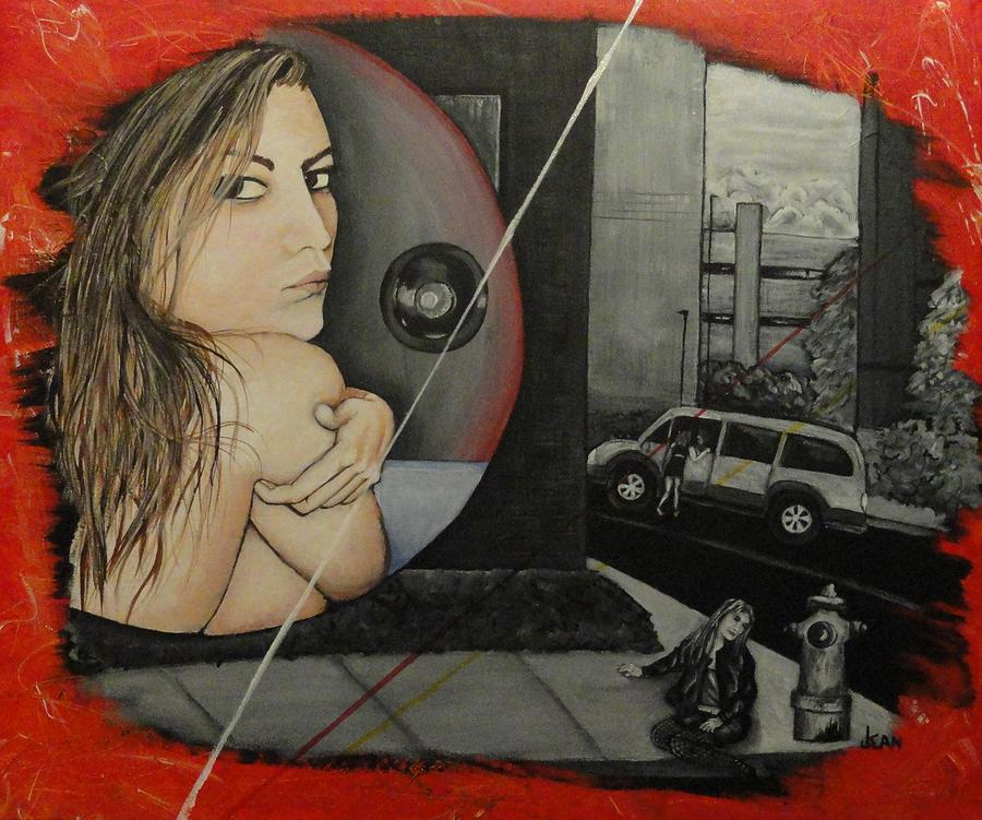 Sold Into A Life Of Prostitution Painting  - Sold Into A Life Of Prostitution Fine Art Print