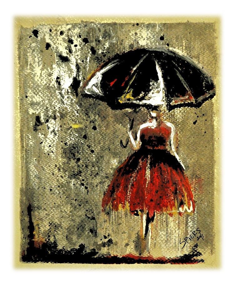 Umbrella Painting - Sold Red Sky At Night by Amanda  Sanford