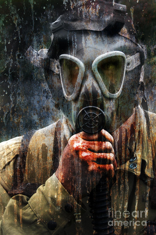 Soldier In World War 2 Gas Mask Photograph  - Soldier In World War 2 Gas Mask Fine Art Print