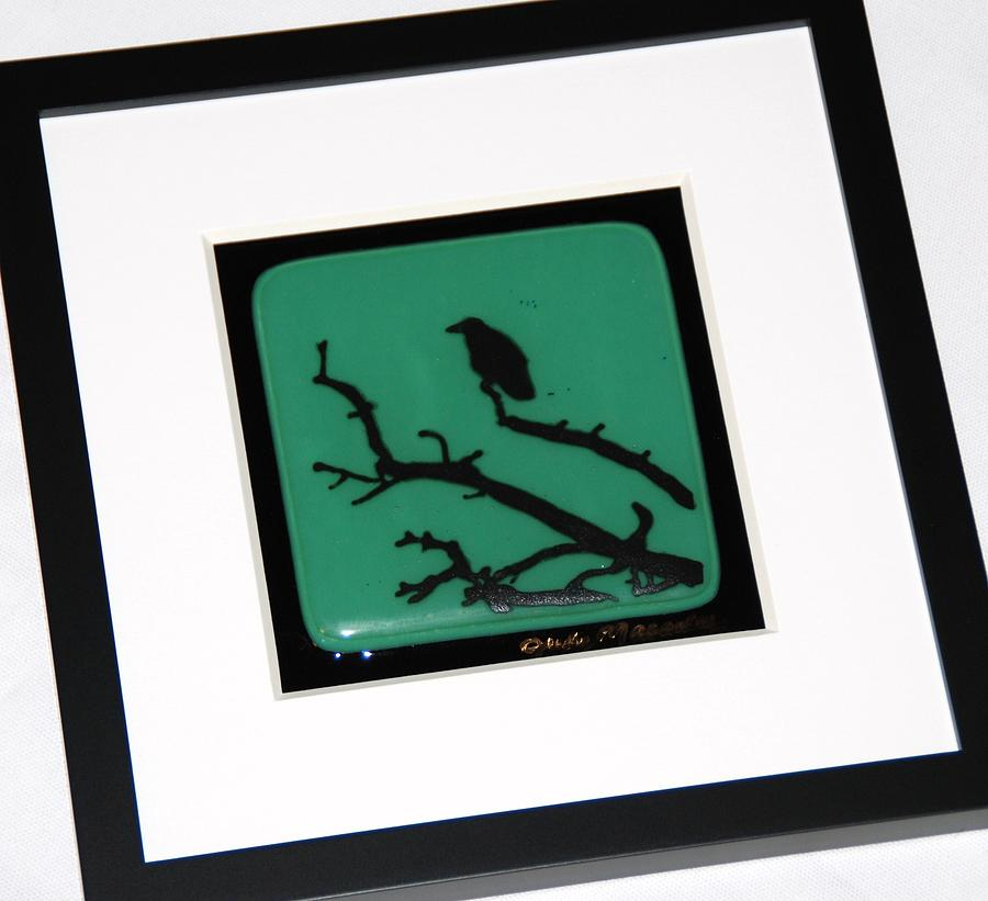 Solitary Crow Glass Art