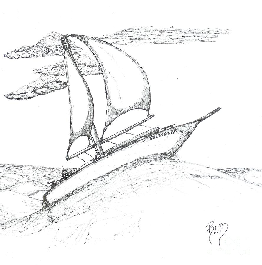 Solitude - Sketch Drawing  - Solitude - Sketch Fine Art Print