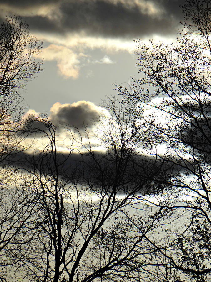 Sky Photograph - Some Rather Serious Looking Clouds by Brenda Conrad