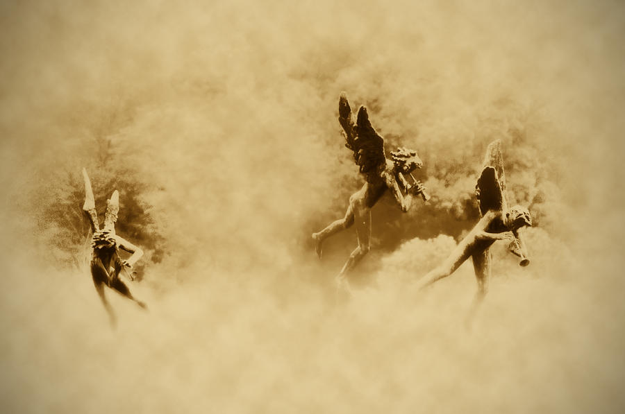 Song Of The Angels In Sepia Photograph  - Song Of The Angels In Sepia Fine Art Print