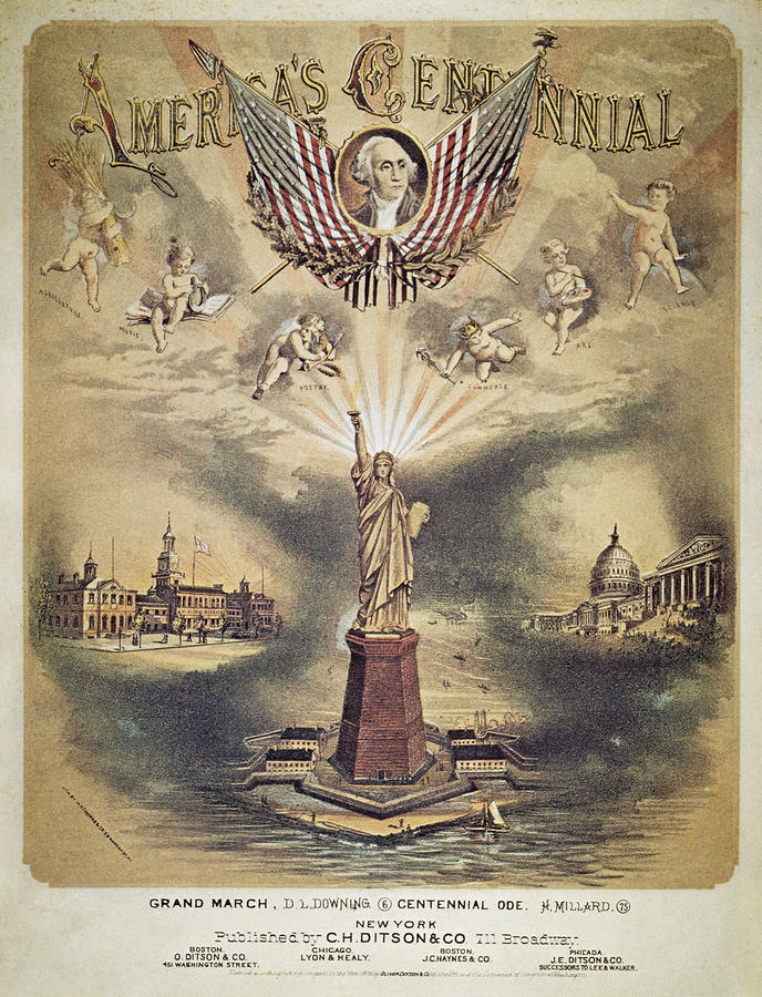 Song Sheet Cover, 1876 Photograph