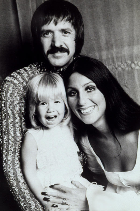 Sonny & Cher With Daughter Chastity Photograph  - Sonny & Cher With Daughter Chastity Fine Art Print