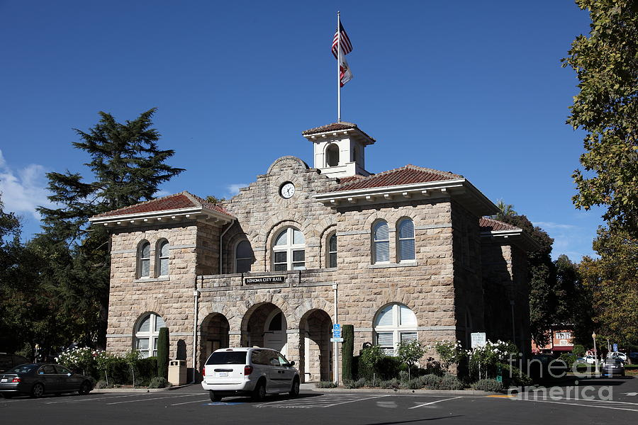 Sonoma City Hall - Downtown Sonoma California - 5d19266 Photograph  - Sonoma City Hall - Downtown Sonoma California - 5d19266 Fine Art Print