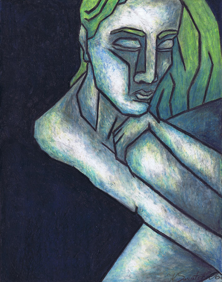 Sorrow Painting  - Sorrow Fine Art Print