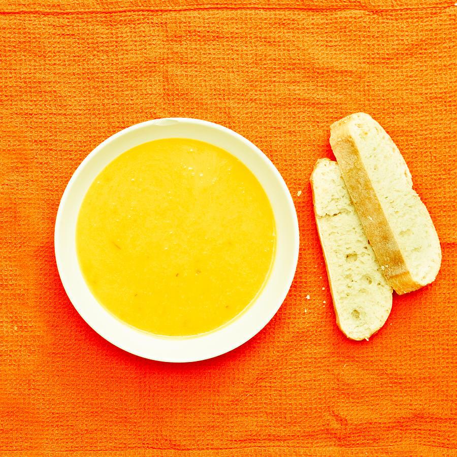 Bowl Photograph - Soup by Tom Gowanlock